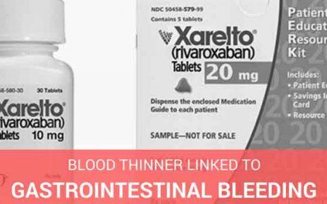 xarelto blood thinner linked to gastrointestinal bleeding