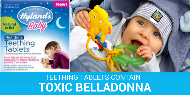 hylands teething tablets contain toxic levels of belladonna