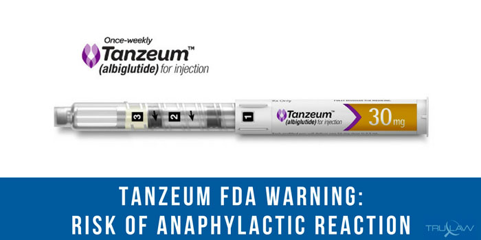 tanzeum discontinued risk anaphylaxis reaction
