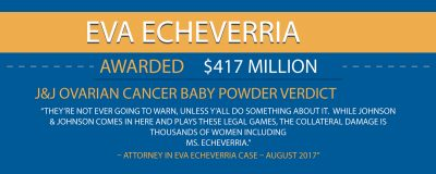 417 Million Talcum Verdict Eva Echeverria Infographic