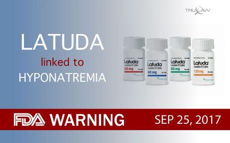 FDA Warning Latuda is linked to Hyponatremia