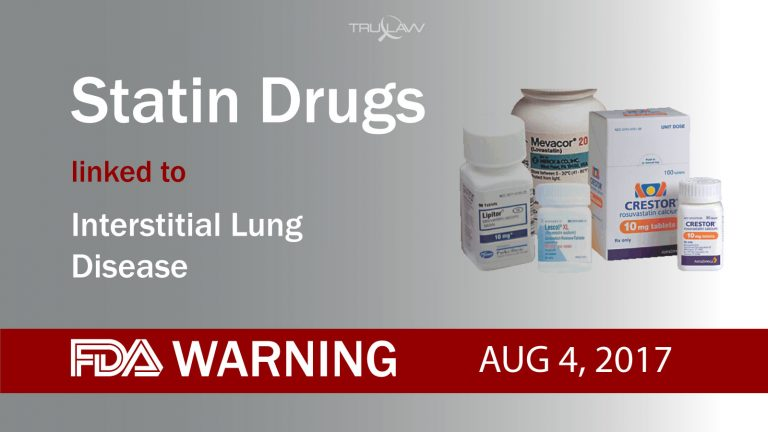 FDA Warns Statin Drugs Can Cause Interstitial Lung Disease