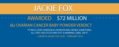 72 Million Talcum Verdict Jackie Fox Infographic