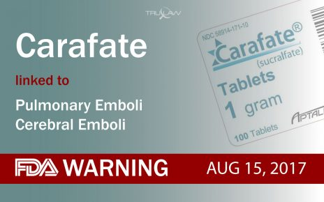 FDA Warning Carafate linked to Pulmonary & Cerebral Emboli
