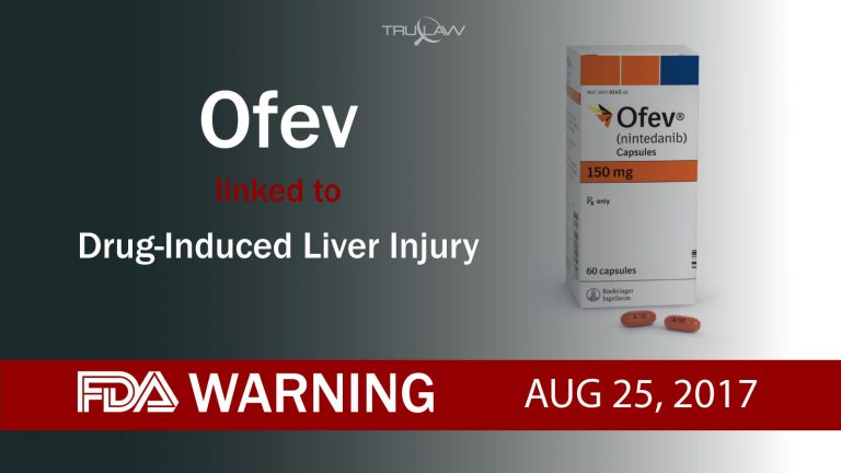 FDA Warning Ofev linked to Drug-induced Liver Injury