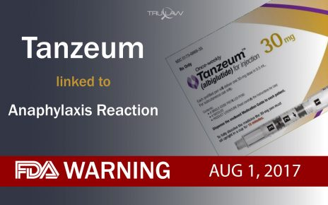 FDA Warning Tanzeum linked to Anaphylaxis Reaction