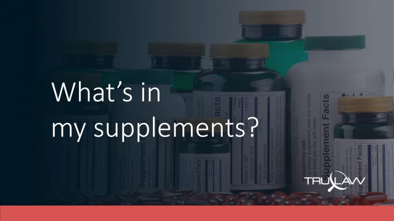 Supplement bottles questioning ingredients in them